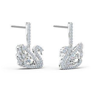 ♥Swarovski DANCING SWAN125th Anniversary Earrings